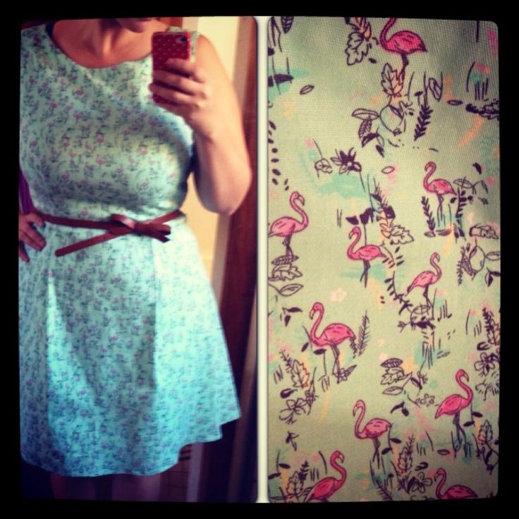 Flamingo dress, love it!