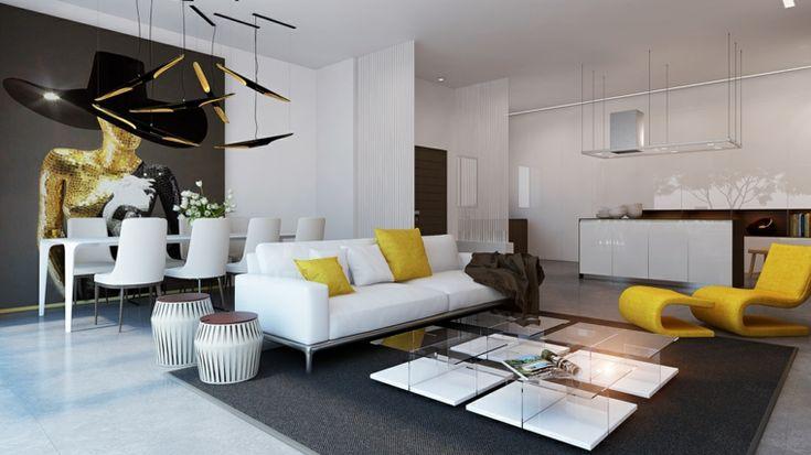 opciones para apartamentos con diseño de plano abierto