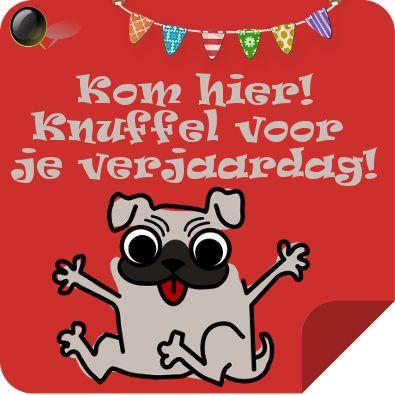 Kom Hier Knuffel Voor Je Verjaardag Verjaardagskaarten Hond Verjaardag Verjaardagskaart