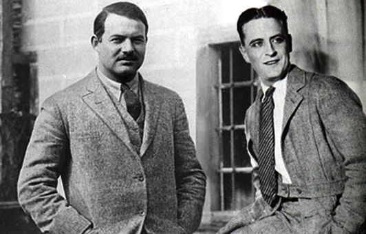 Image result for Fitzgerald and Hemingway
