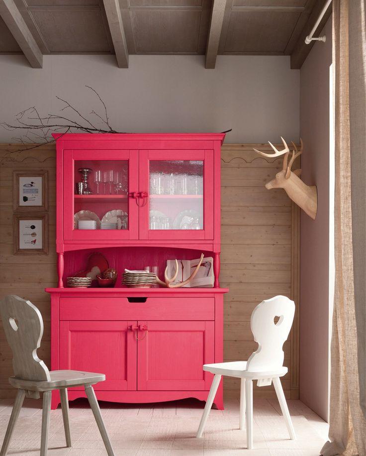 Wooden bedroom set TABIÀ T06 by Scandola Mobili