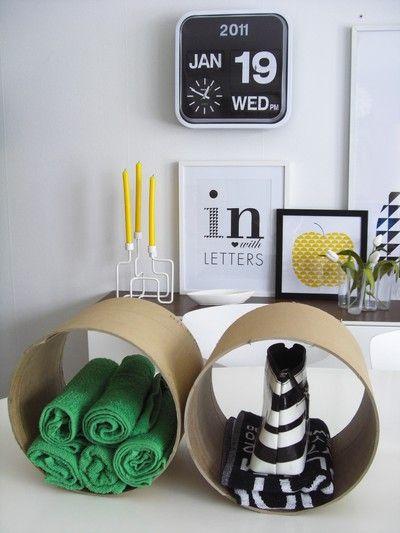 x4duros.com: baño estantes tubos de cartón