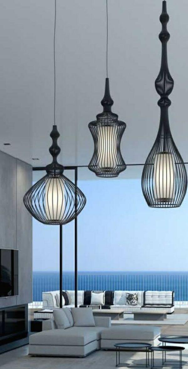 Wohnzimmerlampen Modern Schwarze Pendelleuchten