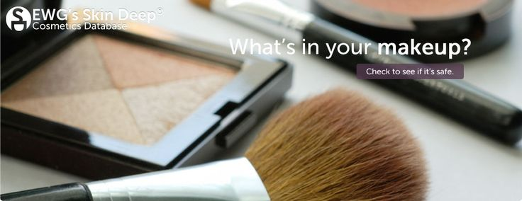 What's in your makeup? ...It's our mission at Environmental Working Group to use the power of information to protect human health and the environment. EWG's Skin Deep database gives you practical solutions to protect yourself and your family from everyday exposures to chemicals. We launched Skin Deep in 2004 to create online safety profiles for cosmetics and personal care products. Our aim is to fill in where industry and government leave off.
