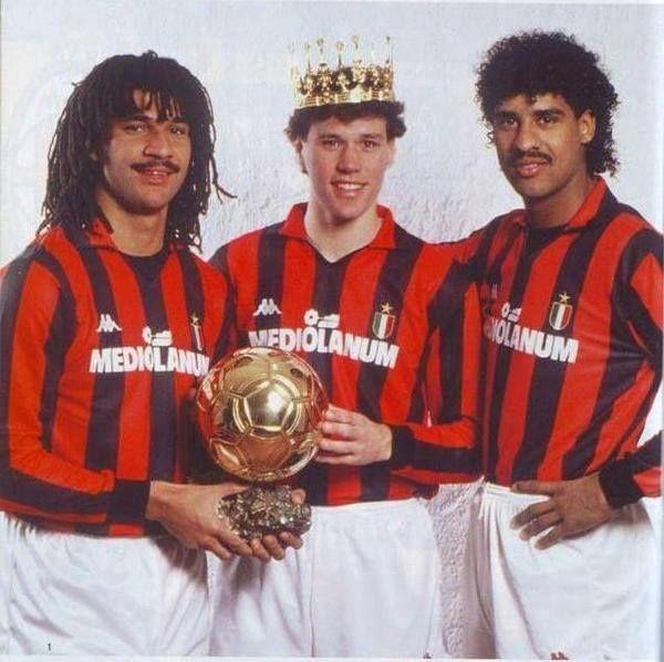 Ruud Gullit, Marco Van Basten, Franck Rijkaard (AC Milan)