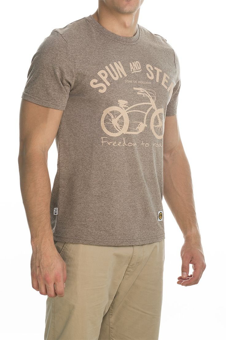 T-shirt Basman; light brown.