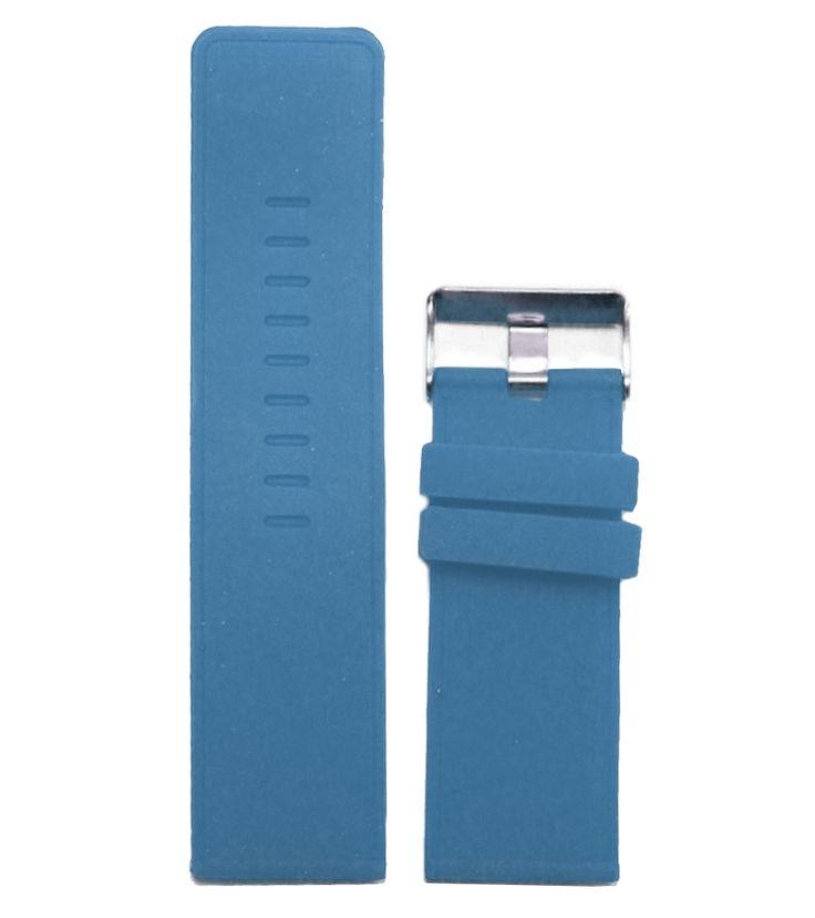 Cinghie a nastro della gelatina del silicone 28 millimetri di gomma blu classico delle signore degli uomini della vigilanza WB1079E28JB