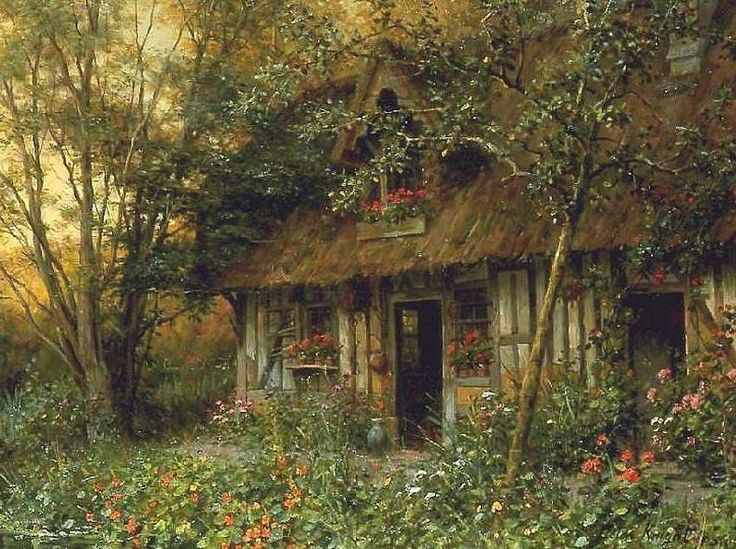 """afaerytalelife: """"Cottage, by Louis Aston Knight. """""""