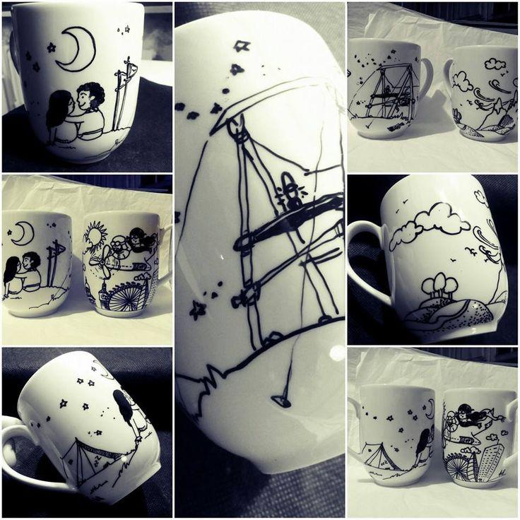 #mug #mugillustration #drawing #lovestory #personalised