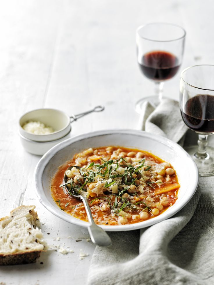 This Italian-grandma-inspired soup gets a boost of healthful protein from cooked chickpeas.  Chickpea Minestrone , 3.2 out of 4 based on 5 ratings