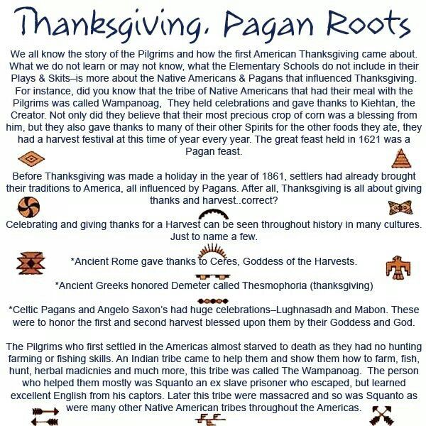 God gave us a harvest festival to honor Him which is about a month before thanksgiving    Thanksgiving is pagan, not biblical    Words to find this post: Biblical truth, bible, christian, truth, scripture