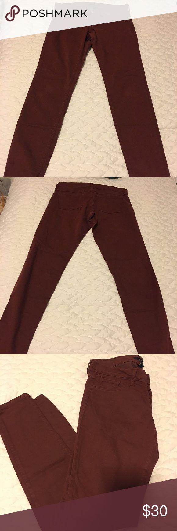 Maroon skinny jeans Flying Monkey 🐒 Flying Monkey skinny jeans size 28 Maroon color. Not faded, in great shape. Rarely worn. flying monkey Jeans Skinny