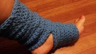 Crochet Tutorial - Easy Crochet Yoga Socks - YouTube