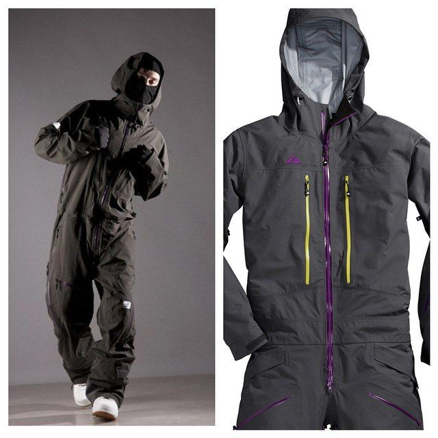 Really badass hardcore freeride overall snowsuit