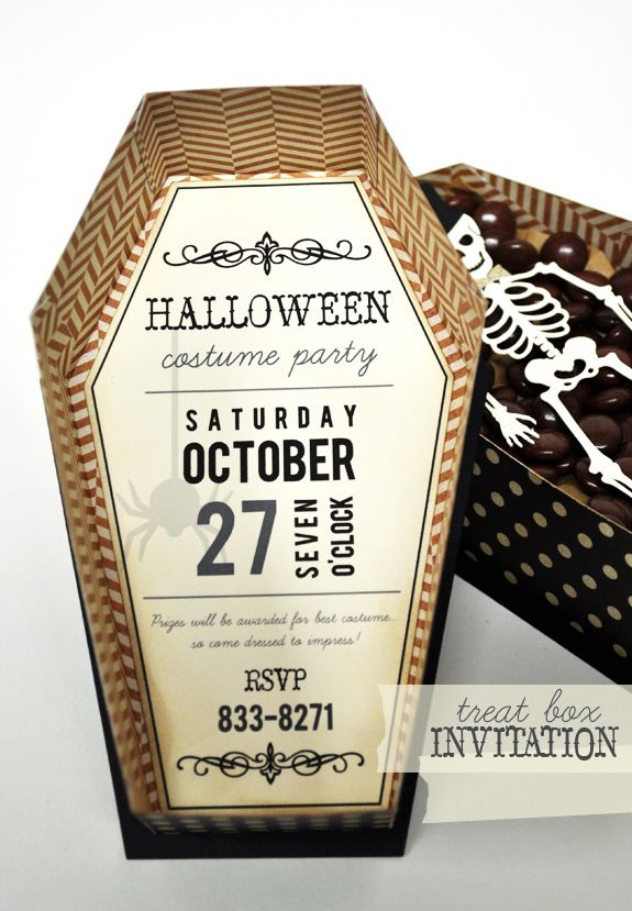 Silhouette Blog: Halloween Treat Box Invitation ...