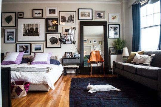 Apartment Therapy: 10 Must-See Small Cool Homes: Week Three (Love the huge mirror.)