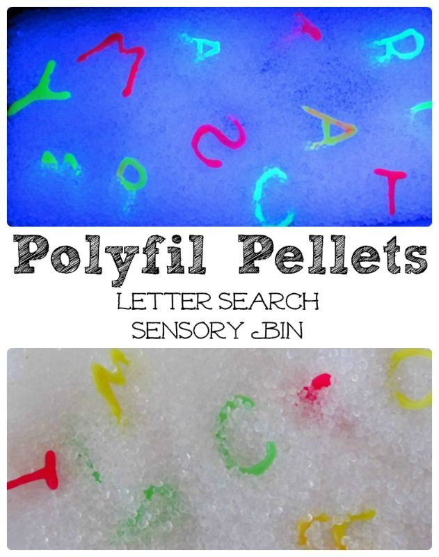 Polyfil Pellets: Preschool Letter Recognition Sensory Bin - Where Imagination Grows