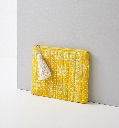 Kopertówka damska żółty nadruk - Promod