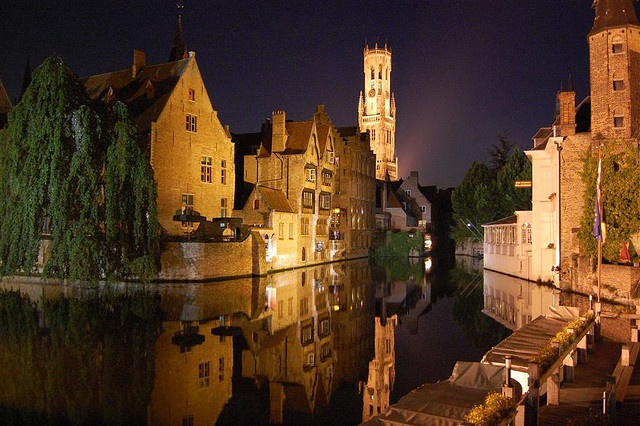 Bruges at night - a beautiful, preserved city