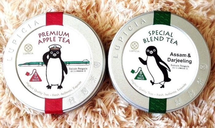 "「Suica」ペンギンがモチーフになった紅茶ブランド""LUPICIA""の限定コラボレーションラベル。"