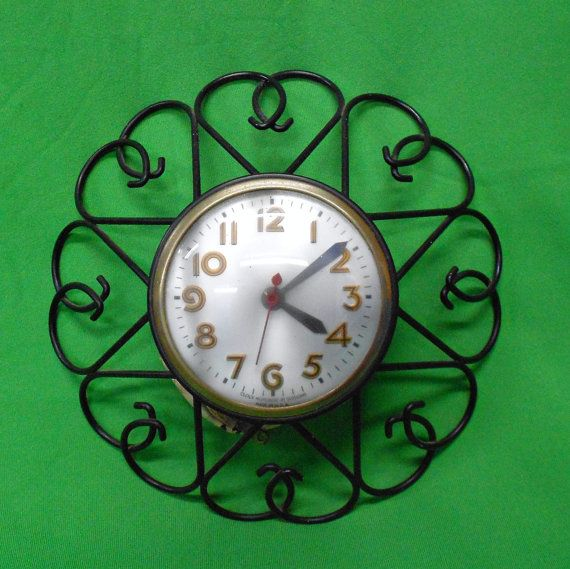 Retro Electric Kitchen Wall Clocks: 17 Best Images About Wire Art - Clock On Pinterest