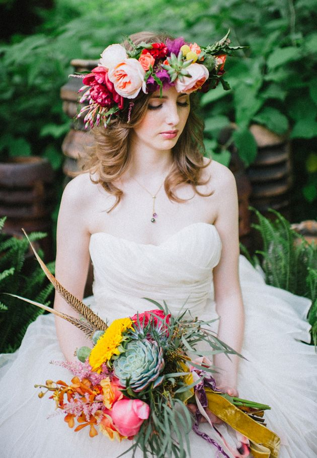 Brides: An Eclectic Bohemia Inspiration Shoot at Pittsburgh's Iron Eden