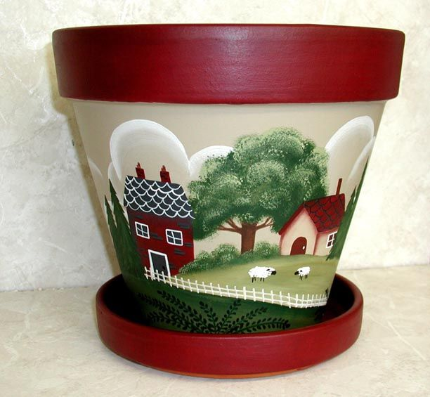 painted clay pots - Google Search