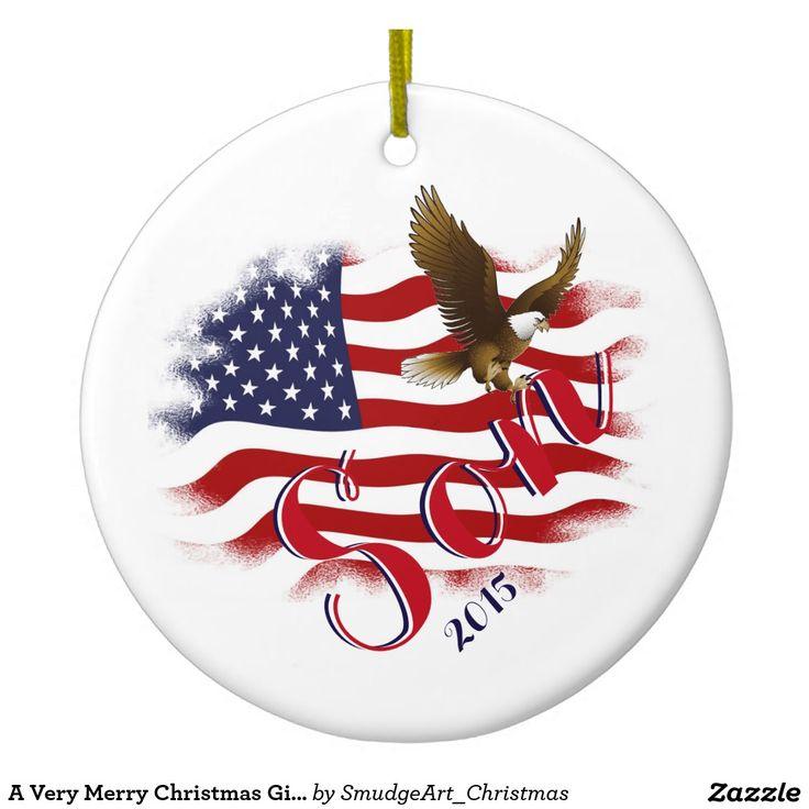 A Very Merry Christmas Gift Collection Double-Sided Ceramic Round Christmas Ornament