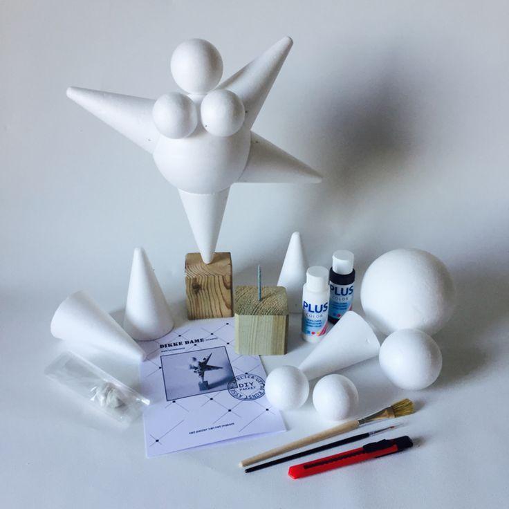 DIY pakket Dikke Dame (Staand model)