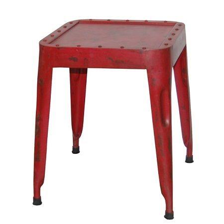 Industriele kruk ijzer rood met een stoer uiterlijk. Wil je een stoere kruk met een industrieel of vintage tintje, dan is dit echt iets voor u!