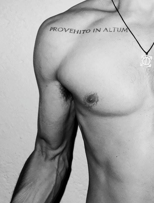 Jared Leto collar bone tattoo left clavicle