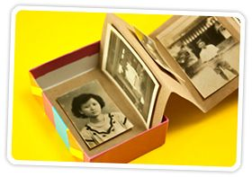 Make A Photo Album Treasure Box! | Photojojo ... a quick, easy way to do something with your pics. You can keep it very simple or fancy it up.