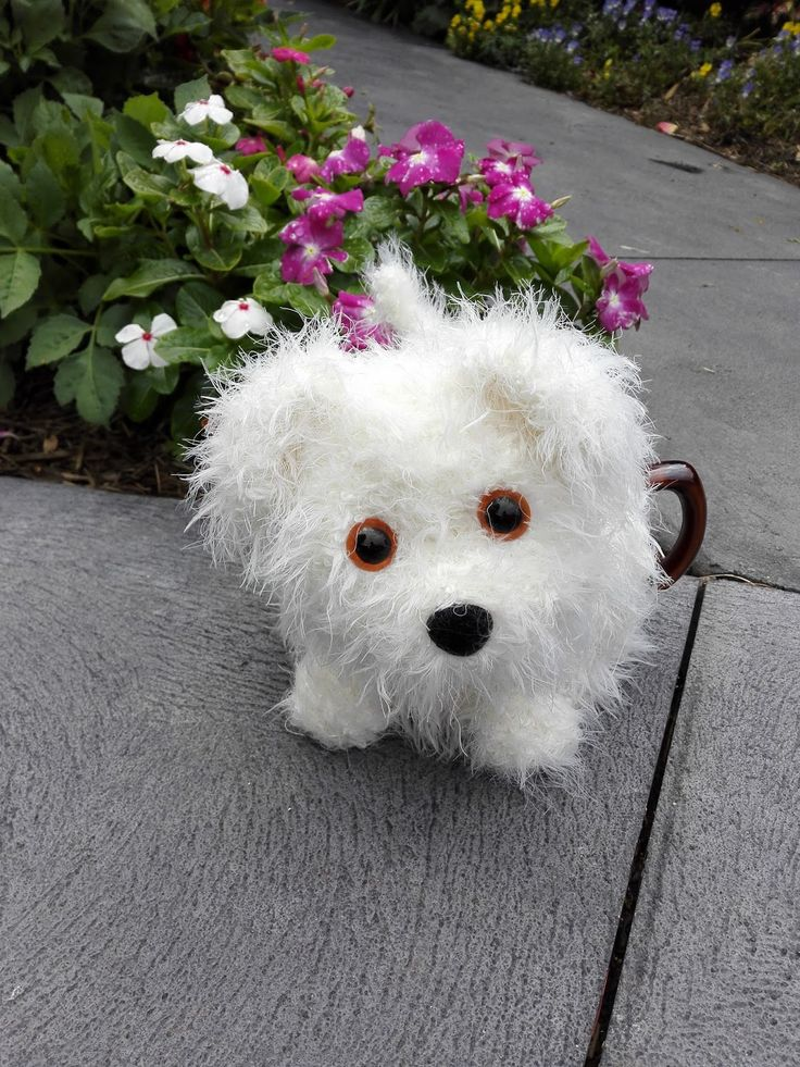 Craft a cure for cancer free tea cosy patterns: Alfie the fluffy puppy tea cosy