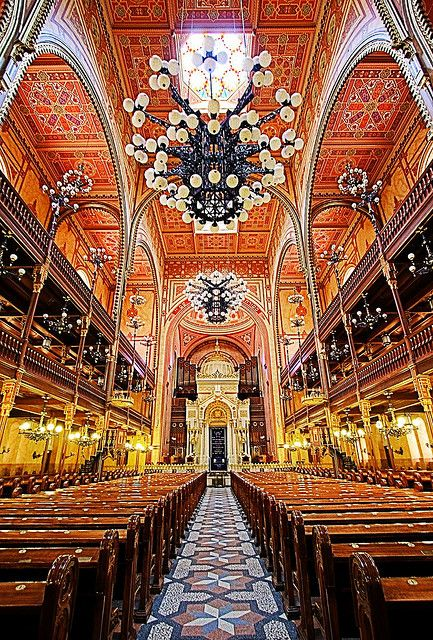 Budapest's Great Synagogue located on Dohány Street is the largest synagogue in Europe.
