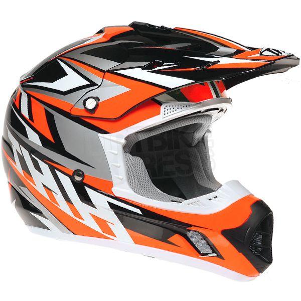 2016 THH TX-12 Helmet - Strike II Black Flo Orange