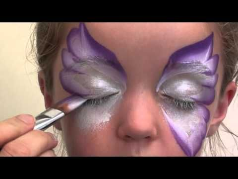 Butterfly Face Painting Design Tutorial - YouTube