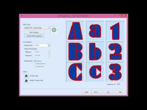 Husqvarna Viking Quick Font Software - Unlimited Fonts to Embroider for Free - YouTube
