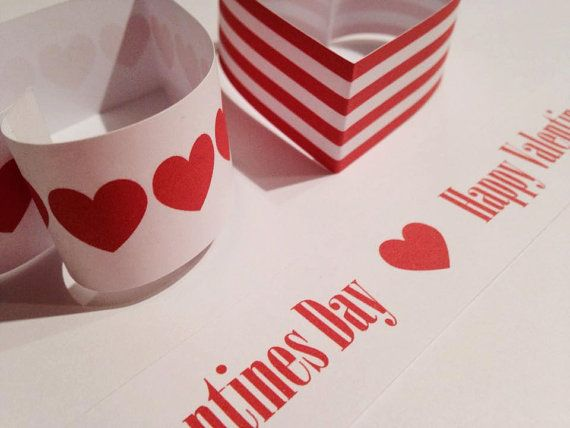 Hearts, stripes and words.