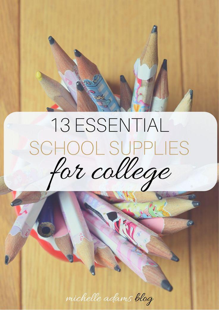 13 Essential School Supplies for College Students | Michelle Adams Blog