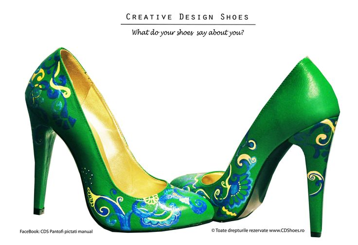 Spring Adventure - Pantofi pictați manual
