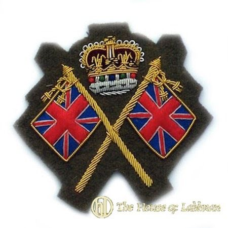 khaki colour sergeant sleeve rank badge insignia