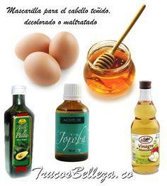 Mascarilla para el cabello tenido decolorado o maltratado ingredientes