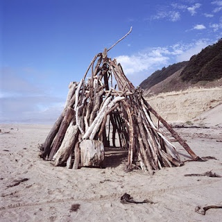 Driftwood teepee.
