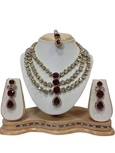 Indian Bollywood Style Gold Plated Queen Diva Maroon Ston... https://www.amazon.com/dp/B01KA9XPKW/ref=cm_sw_r_pi_dp_x_VlxPybJNJC2VK
