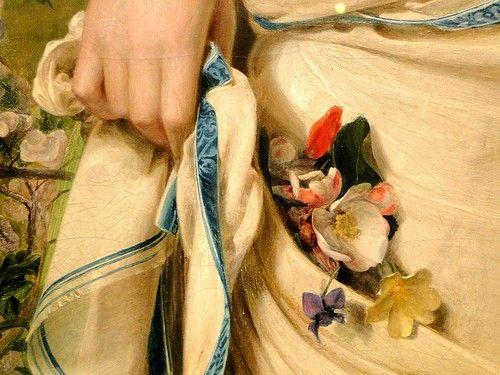 Frederick Sandys - Gentle Spring, exhibited 1865 - detail