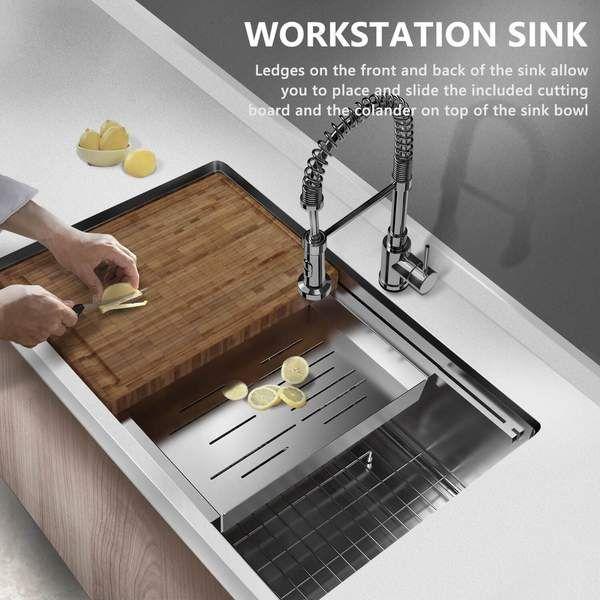 Mensarjor Undermount Kitche Undermount Kitchen Sinks Single