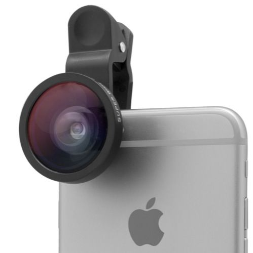LENTE CLIP PARA SMARTPHONE SUPER GRAN ANGULAR Precio Devuelving:   15,10 € Precio en tienda:   31,60 € onsige geniales instantáneas y haz geniales videos con esta lente Gran Angular de 0.4x. Lograrás ópticas magníficas de distancia focal fija de hasta 140º de Angulo de Visión. Se sujeta fácilmente con una pinza compatible con la cualquier modelo de Smartphone (o tablet) y puede ser usado para la cámara trasera (principal) y delantera (selfie)