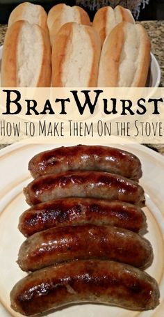 Bratwurst Recipe - Cooking Brats Over The Stove  #craftbeer #beer