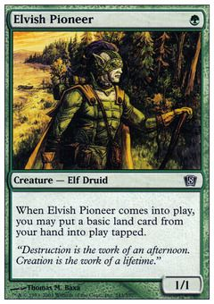 Elvish Pioneer - Creature - Elf Druid - Forest - Green - 8TH Edition - Magic The Gathering Trading Card