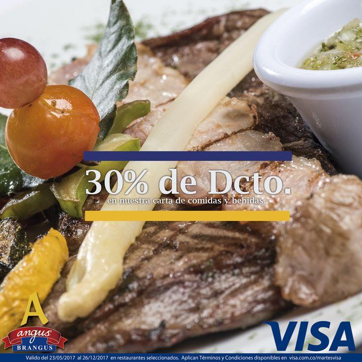 En Angus Brangus Parrilla Bar   todas las noches #MartesVisa recibes 30% de dto. para que disfrutes lo mejor de la parrilla en calidad Brangus.   Reservas: 2321632 - 310 7006602. http://www.angusbrangus.com.co/alianzasydescuentos/ Cra. 42 # 34 - 15 / Vía las Palmas.  #restaurantesmedellín #AngusBrangus #medellín #langostinos #ofertaespecial #gastronomía #medellíntown #medellíncity #medellínsisabe #poblado #noches #noche #Cena